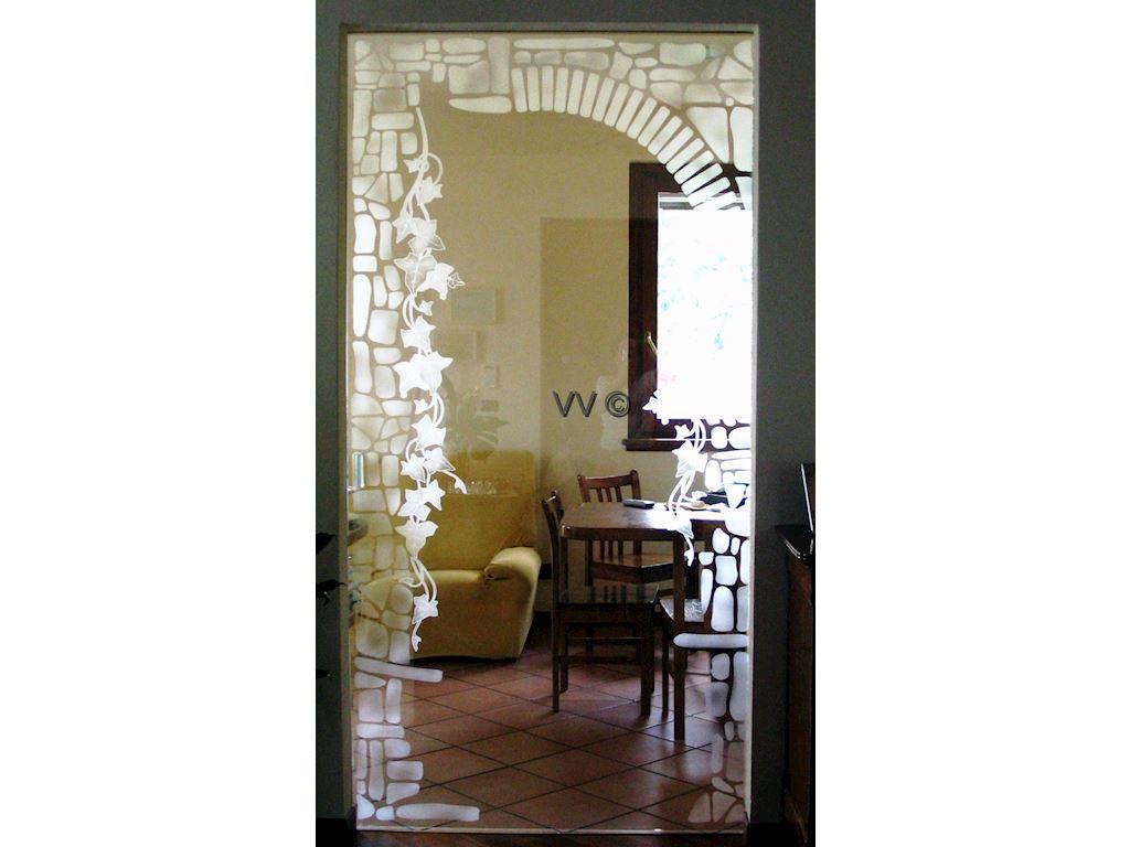 Edera con sassi porte in vetro vetri d 39 arredo for Porte d arredo in vetro